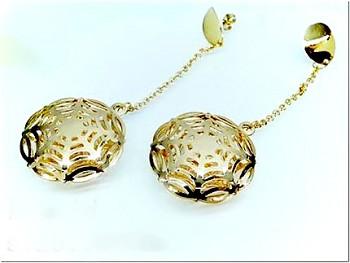 Ocelové náušnice Zlaté 18077
