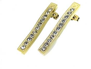 Ocelové zlaté náušnice 18168