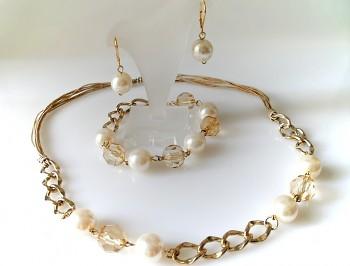Souprava bižuterie perla 800301