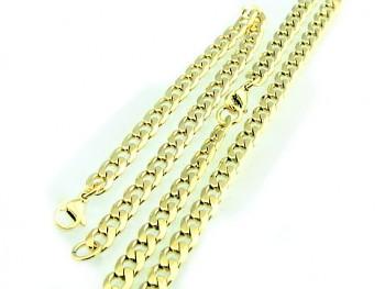 Set náramku a řetězu 60 cm z oceli 19787