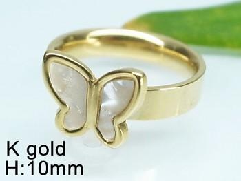 Prsten zlatý ocelový Motýl 19974