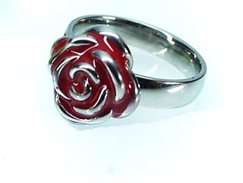 Prstýnek ocelový Červená Růže 19967