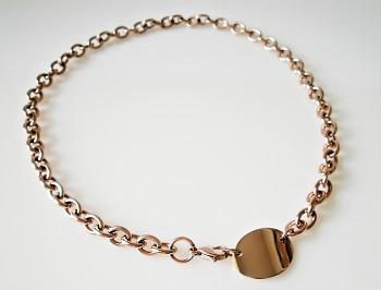 Náhrdelník ocelový, řetěz Rose Gold 19945
