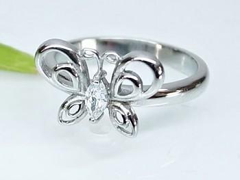 Prsten ocelový Motýl 1996415