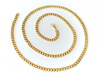 Řetízek ocelový zlatý 70 cm 19788