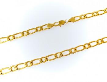 Ocelový řetěz zlatý 55 cm 19794