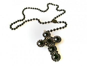 Růženec ocelový  náhrdelník 18106