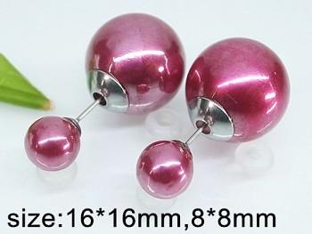 Ocelové náušnice perličky  20160