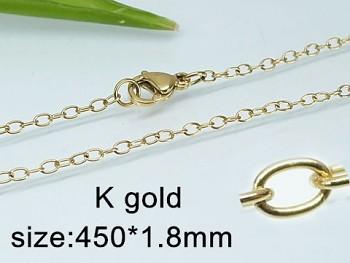 Řetízek chirurgická ocel zlatá 45 cm UNISEX