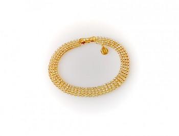 Náramek zlatý s jemným štrasem, Jablonecká bižuterie 28210