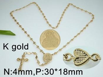 Růženec chirurgická  oceli  zlatá 18119