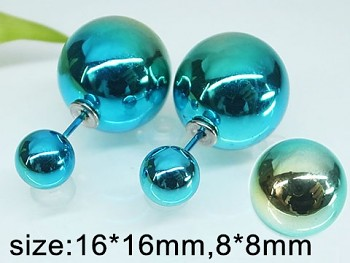 Náušnice z chirurgické  oceli modré perly  20248