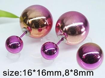 Náušnice ocel perličky  20247