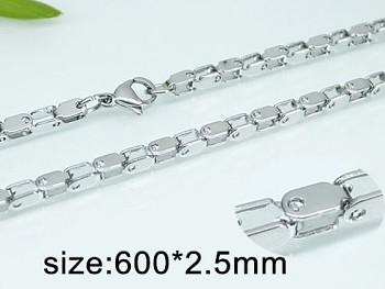 Ocelový řetízek 60 cm 20304