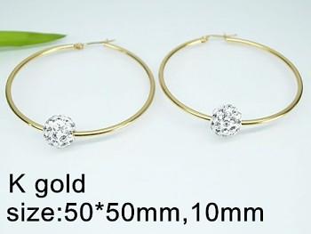 Náušnice  ocel zlaté kruhy  20328