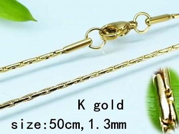 Zyta Řetízek z chirurgické oceli zlatý Unisex  50 cm  20340