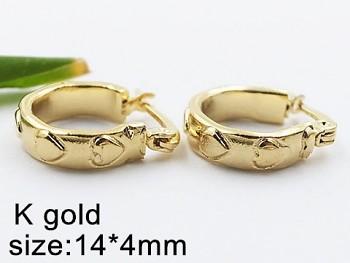 Náušnice Kruhy ocelové zlaté 20331