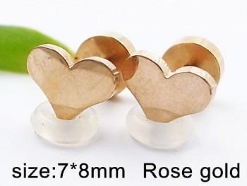 Náušnice ocel růžové zlato Srdce 20336