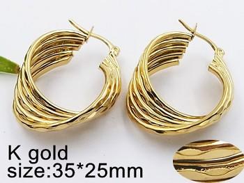 Náušnice kruhy zlaté 20339