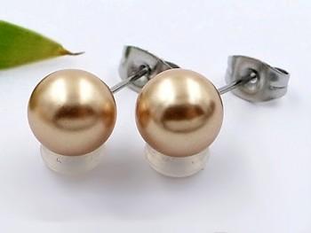 Náušnice perličky chirurgická ocel 20374