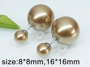 Náušnice oboustranné perličky 20353