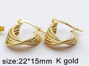 Náušnice chirurgická ocel zlatá  20388