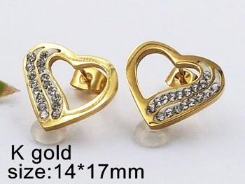 Náušnice ocelové Srdce 20415