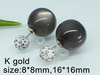 Náušnice oboustranné perličky 20417