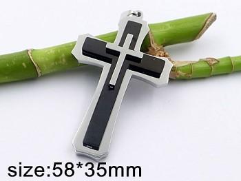 Přívěsek Kříž z chirurgické oceli 20455