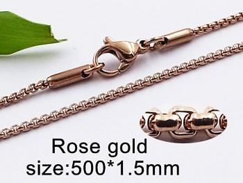 Zyta Ocelový řetízek  růžové zlato 20436