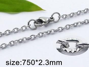 Řetízek ocelový 75 cm 20421