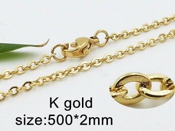 Řetízek ve zlaté oceli Unisex 50 cm 20435