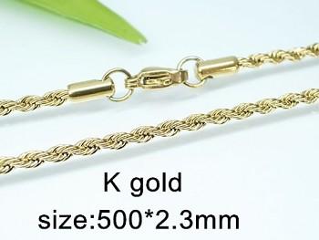 Řetízek ocel chirurgická  zlatá 60 cm 20426, UNISEX