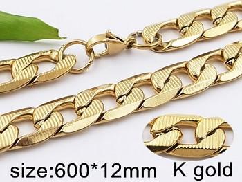 Masivní řetěz ve zlaté chirurgické oceli 20424 Zyta