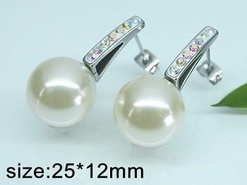 Náušnice perly z chirurgické oceli 20500