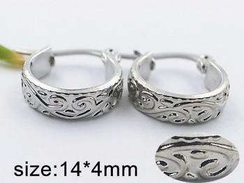 Náušnice kroužky z oceli 20493