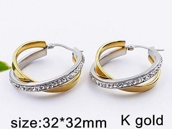 Náušnice kruhy ocelové 20499