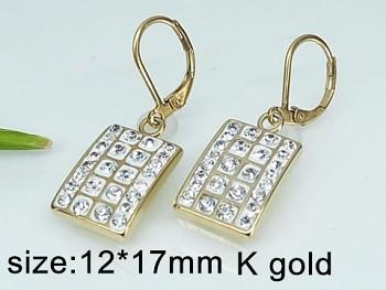 Náušnice zlaté ocelové 20476