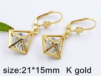 Náušnice visací ocelové zlaté 20490