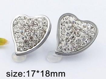 Náušnice z oceli Srdce 20518