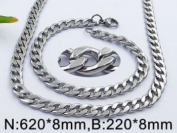 Set náhrdelníku a náramku z oceli 20554