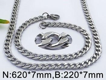Set náhrdelníku a náramku z oceli 20555 Zyta