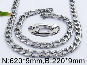 Souprava chirurgická ocel  náhrdelník a náramek očkový 20557