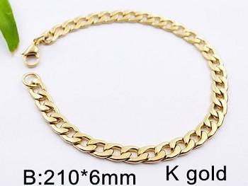 Náramek ocelový zlatý Unisex 20542