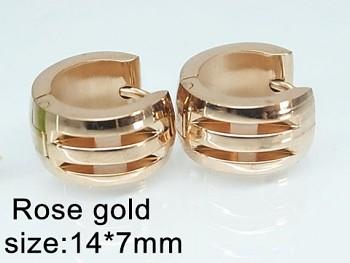 Náušnice ocelové Kruhy 20521