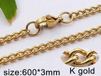 Řetízek zlatý ocelový 20547