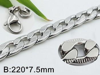 Náramek ocelový zdobený  Unisex 20536