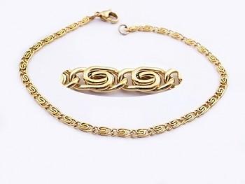 Náramek zlatý ocelový 20535