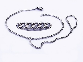 Náramek s prstýnkem z chirurgické oceli 20534