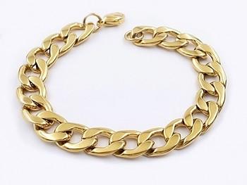 Náramek z chirurgické oceli zlatý 20544